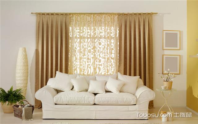 客厅适合挂什么窗帘