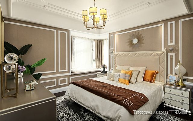 欧式卧室装修效果图3