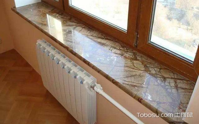 人造石窗台板效果卧室图