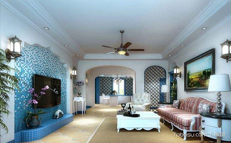 地中海风格130平米装修设计,满怀浪漫与柔情