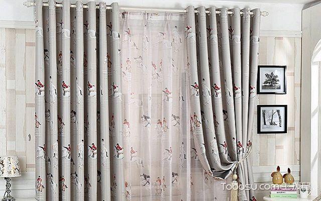 儿童房窗帘布艺材质