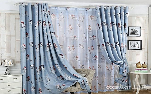 儿童房窗帘布艺图案