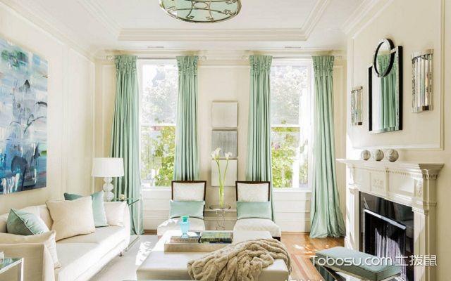 小窗户窗帘效果图浅色