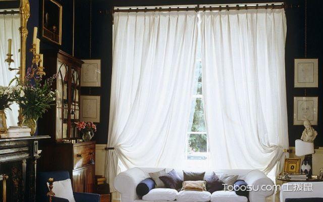 小窗户窗帘效果图白色
