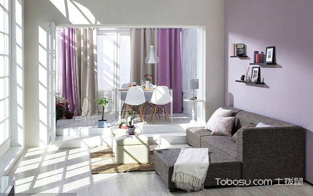 小窗户窗帘效果图紫色