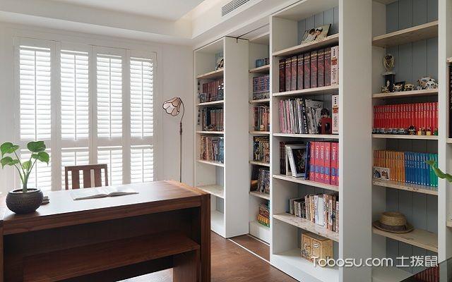 最新小户型书房搁板装修效果图墙柜