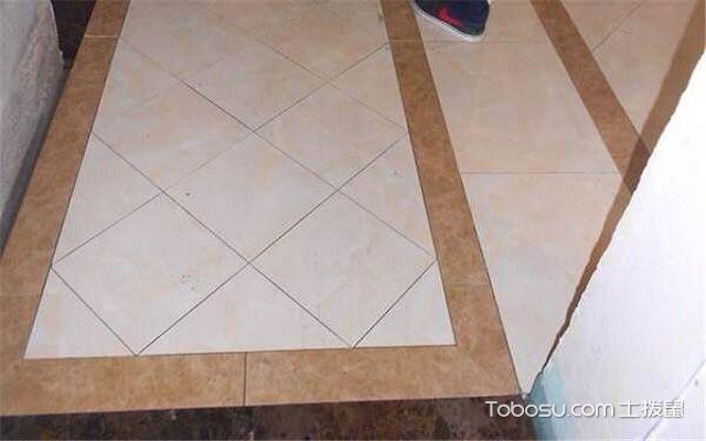 地砖菱形铺贴方法预铺