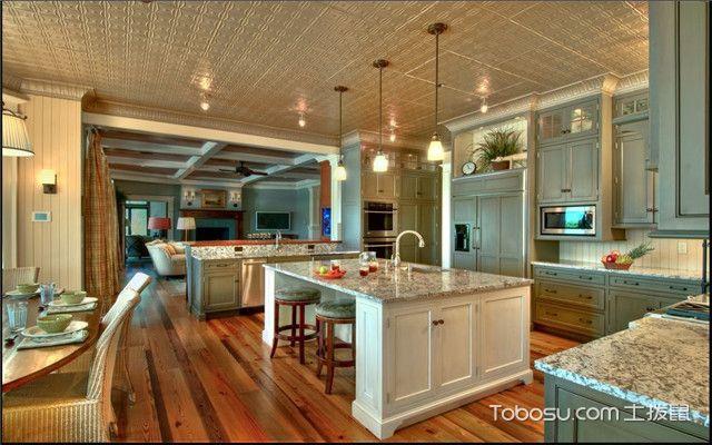 开放式厨房装修风水精美图