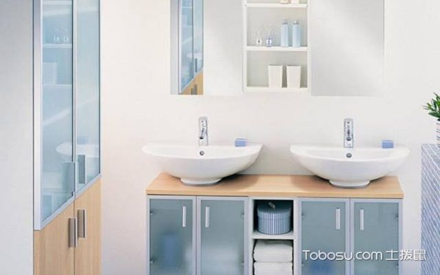 卫浴柜效果图玻璃