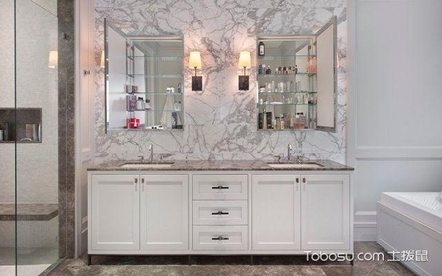 卫浴柜效果图白色