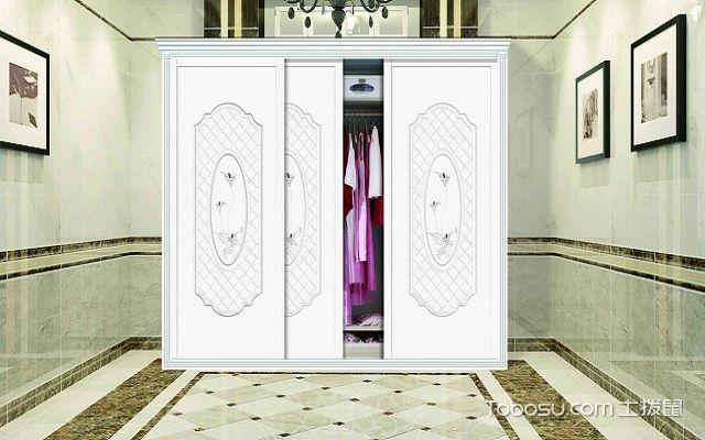 2018最流行推拉门衣柜设计白色