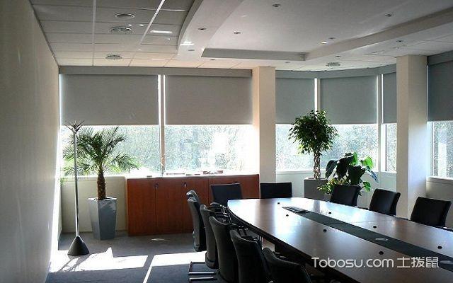 卷帘窗帘效果图办公室