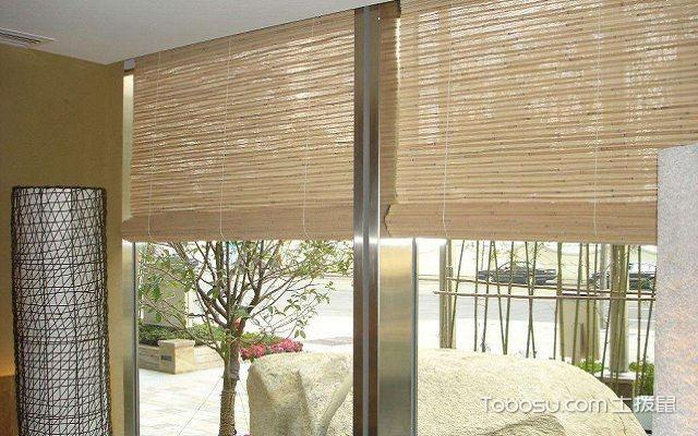 卷帘窗帘效果图木质