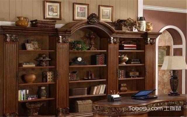 实木拐角书柜颜色