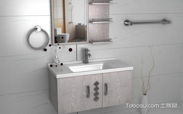 实木浴室柜图片