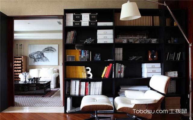 全屋定制家具转角书柜