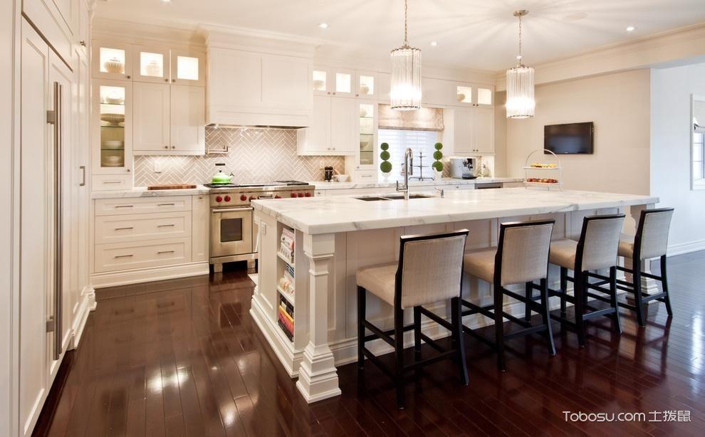 白色开放式厨房图片_土拨鼠装修经验