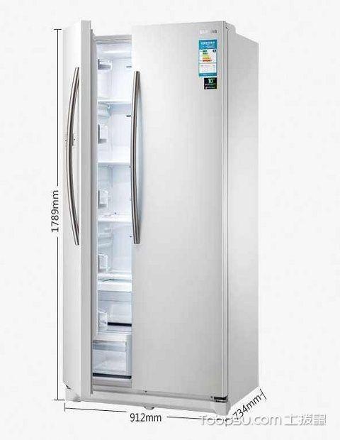 三星对开门变频冰箱省电