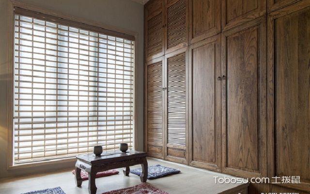 榻榻米窗户窗帘效果图百叶窗