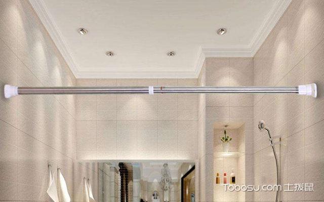 免打孔卫生间浴帘杆选购方法