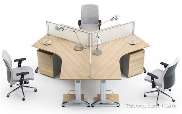三角式屏风办公桌