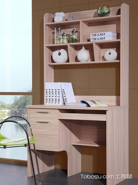 书柜电脑桌效果图三