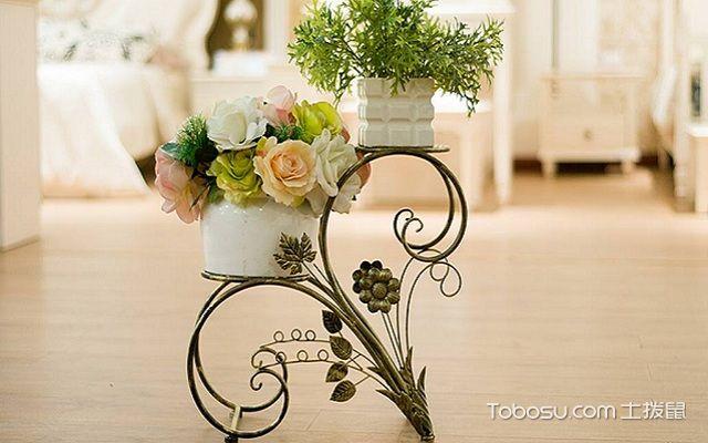 客厅装修花架造型图片金属