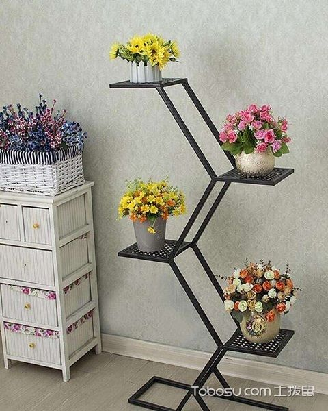 客厅装修花架造型图片铁艺