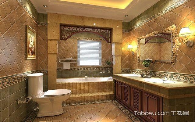 美式风格装修卫浴洁具配图