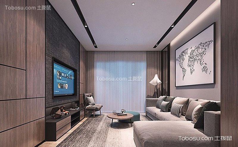 浪漫气息浓厚的艺术典雅欧式两居室装修效果图