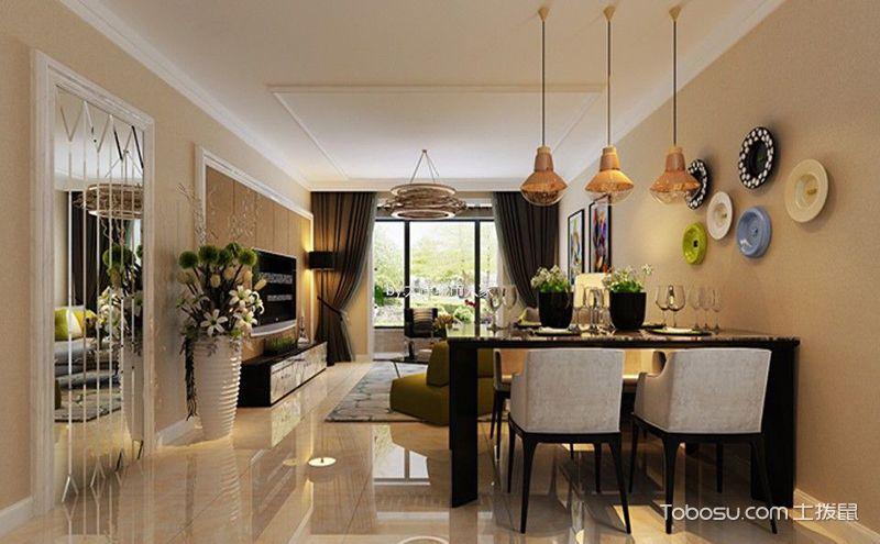 现代风格三室两厅装修效果图,走在时尚的前端