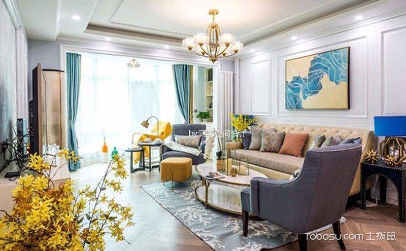 75平米一室一厅装修,绚烂缤纷如初春美景