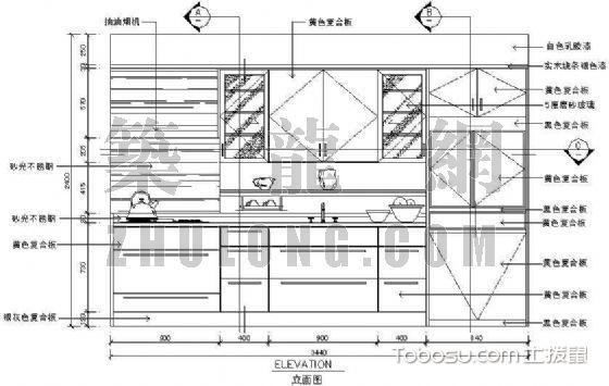 砌砖整体橱柜设计图纸_土拨鼠装修经验