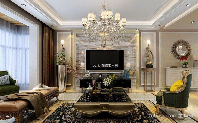 140平米三居室装修案例,古典与时尚的交融