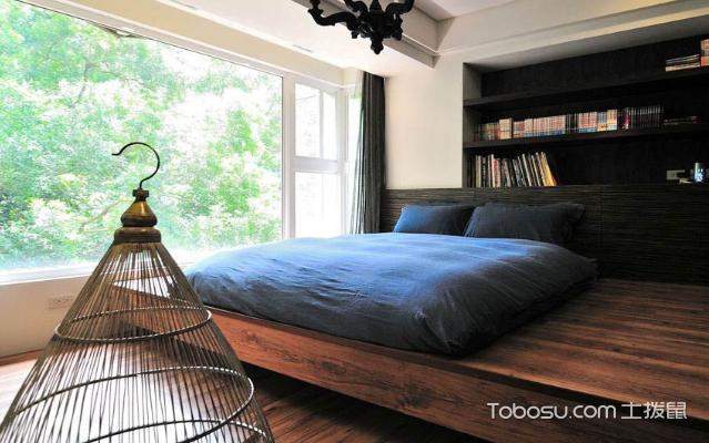卧室地台床装修过程