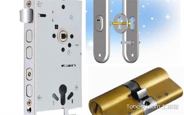 防盗门锁芯安装