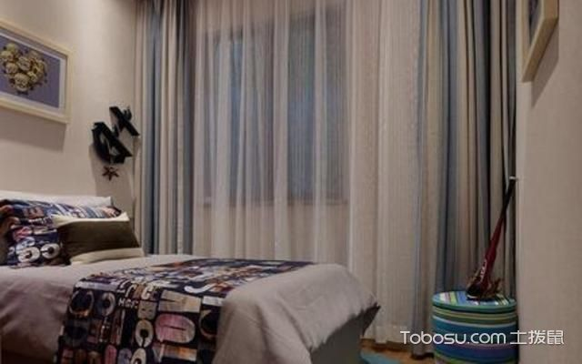 双层窗帘与房间的搭配