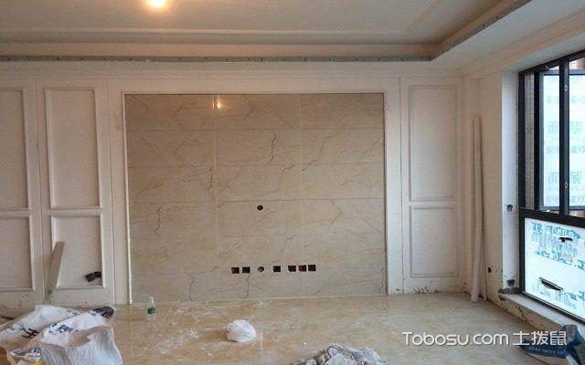 客厅石膏线电视墙效果图