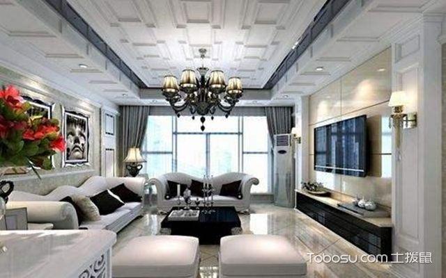 简欧风格装修的客厅效果图