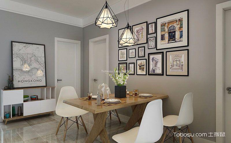 北欧风格餐桌效果图,质朴与时尚的完美融合