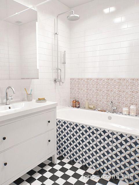 小三房装修效果图卫生间