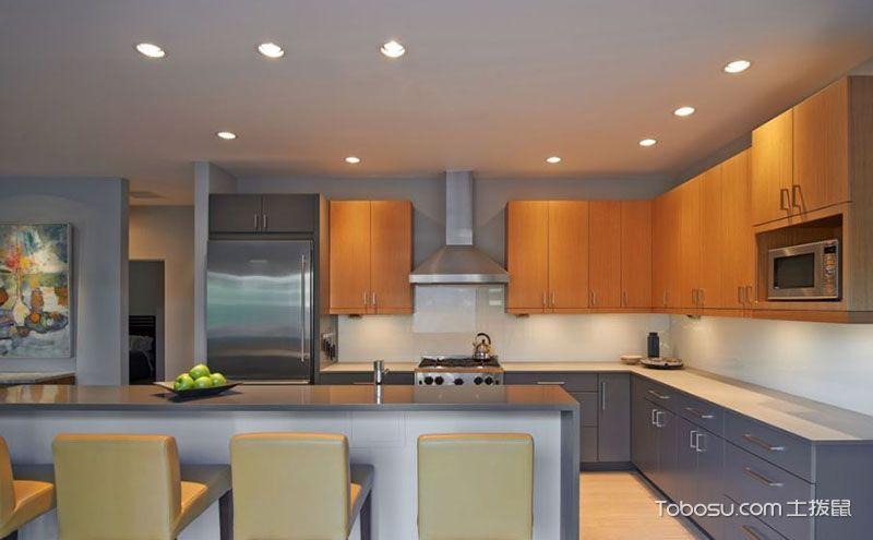 八款厨房吊顶设计方案,风格各异精彩相同