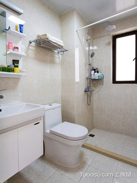 普通三室两厅装修图卫生间