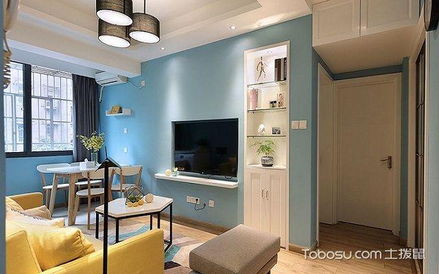 50平公寓装修效果图客厅1