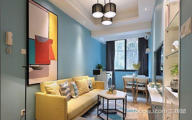50平公寓装修效果图客厅2
