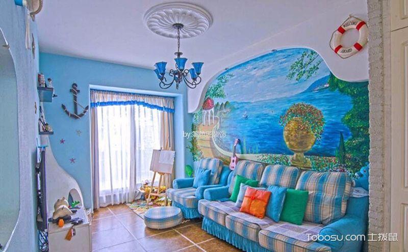 75平两居室地中海风格效果图,宛如童话世界