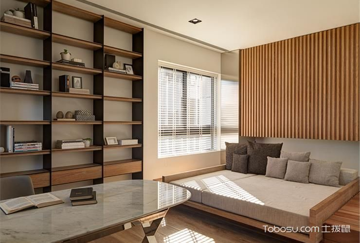 现代日式风格装修的卧室_土拨鼠装修经验