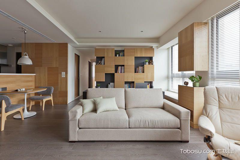 客厅米色沙发图片_土拨鼠装修经验