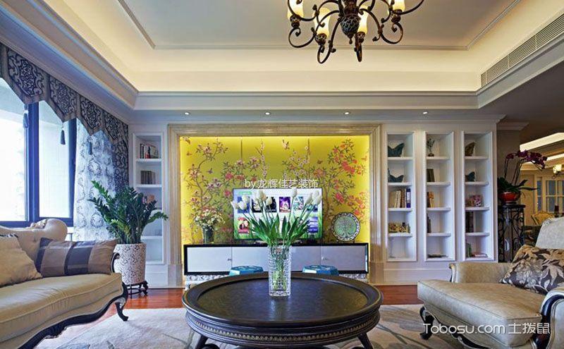欧式电视墙效果图,无与伦比的华贵美感