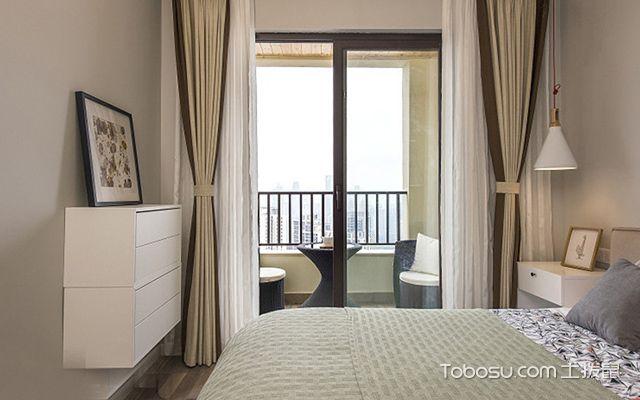 70平米两室一厅装修图卧室设计